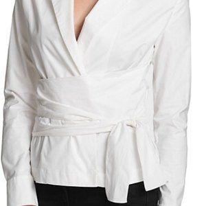 NWT- DKNY Lapel Wrap Tie Shirt